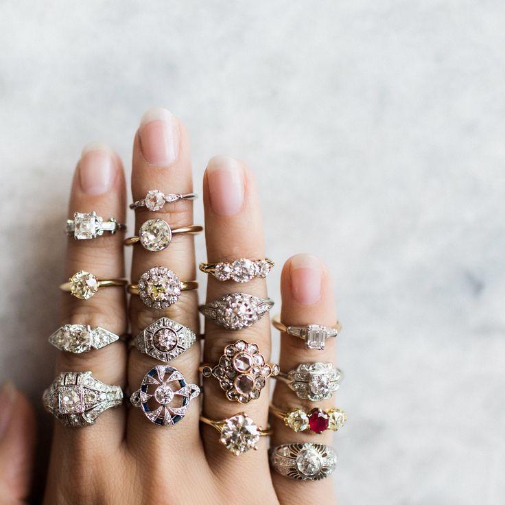 Real vintage wedding rings