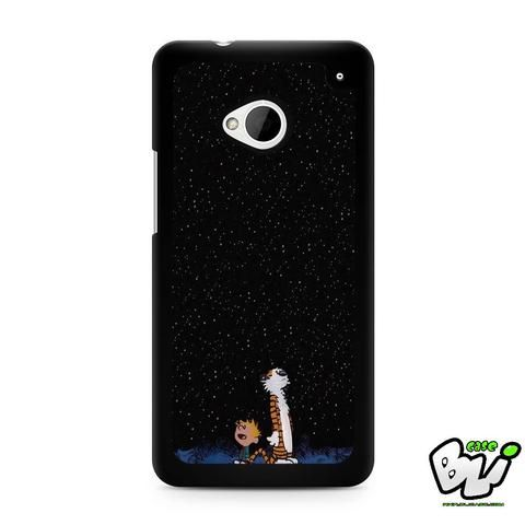 Calvin And Hobes Night Sky HTC G21,HTC ONE X,HTC ONE S,HTC M7,M8,M8 Mini,M9,M9 Plus,HTC Desire Case