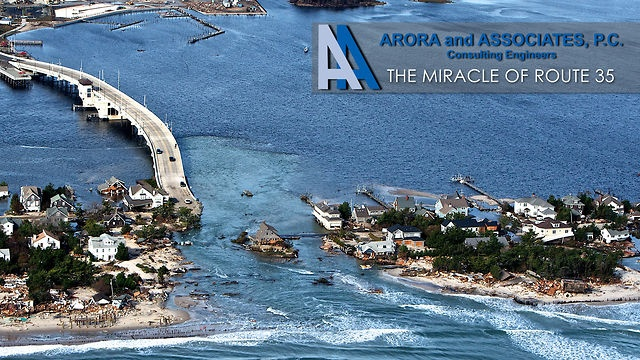 The Miracle of Route 35 by Arora and Associates, P.C.. This short documentary showcases the huge effort that Arora and Associates' team put into completing the NJ Route 35 Reconstruction in Mantoloking, NJ within ten weeks post super storm Sandy.