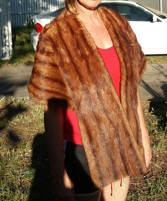 Vintage mink fur cape stole wrap styled by the by Southernhouse