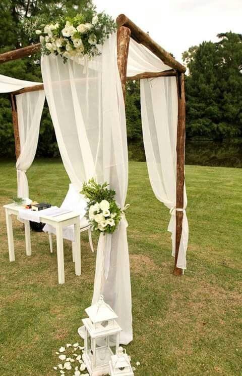 Las 25 mejores ideas sobre altares de boda al aire libre - Casa al dia decoracion ...