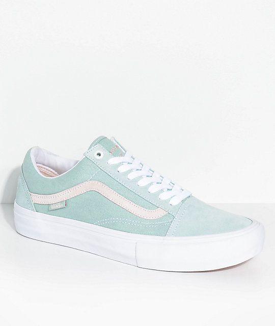 2005e65c15 Vans Old Skool Pro Dan Lu Harbor Grey   Pearl Skate Shoes in 2019 ...