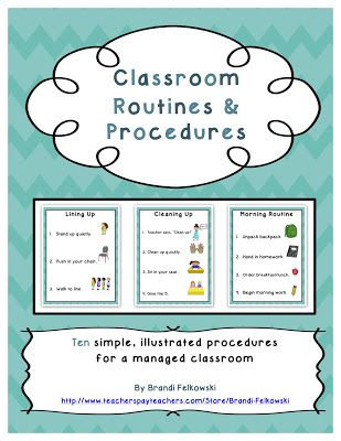 Classroom Routines and Procedures -- 10 Printable, Illustrated Posters for a Managed Classroom! A Peach for the Teach