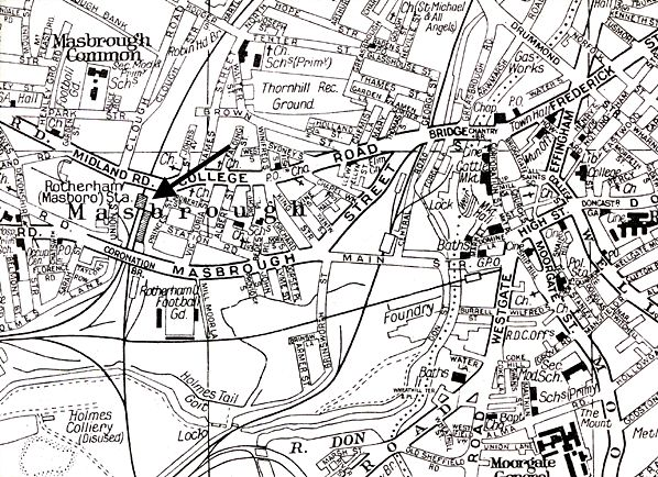 old map of rotherham Google Search Postcards of Rotherham