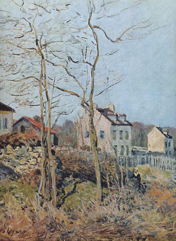 Village at the Edge of the Forest, Sun, 1872. Alfred Sisley
