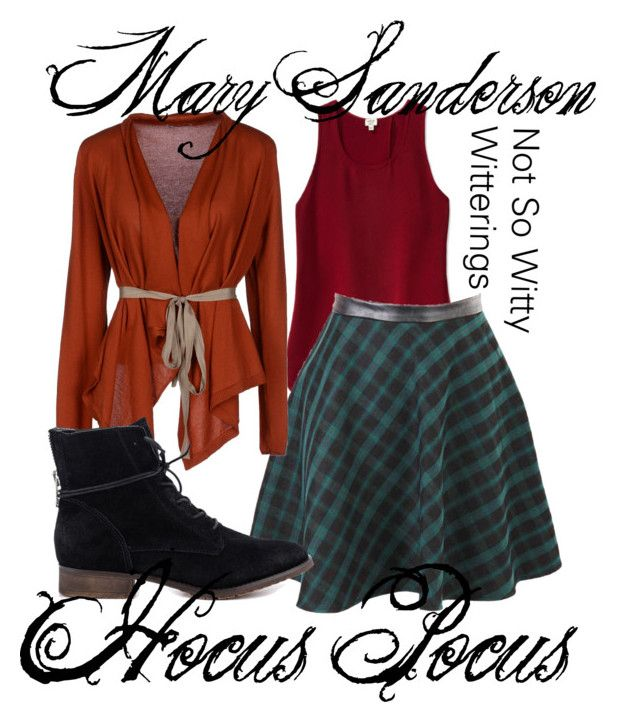"""""""Mary Sanderson Hocus Pocus"""" by notsowitty ❤ liked on Polyvore featuring Wilfred, Tuanua and Steve Madden"""