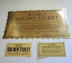 Image result for willy wonka golden ticket template free download