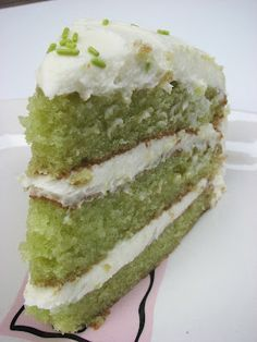 Key Lime Cake - one of my favorite flavors - Key Lime Martinis, Key Lime Pie, Key Lime Tarts, Key Lime Bars - now Key Lime Cake. Make sure you read the suggestions in the comment section.  Haven't tried this yet, but it would be a delish summer treat.