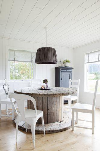 Vivienda con muebles reciclados de madera   Estilo Escandinavo