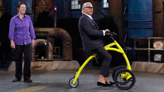 Barbara Alink pitches the Alinker R-volution to the Dragons: Joe Mimran,  Michael Wekerle, Michele Romanow, Jim Treliving and Manjit Minhas. #DragonsDen #CBC #Toronto #Canada