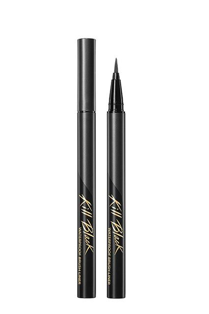 Why Brown Eyeshadow Is The MVP Of The Korean Makeup Bag  #refinery29  http://www.refinery29.com/korean-daily-makeup-routine#slide-6  Using a black eyeliner, line the top lid with a thin line that extends slightly outward.