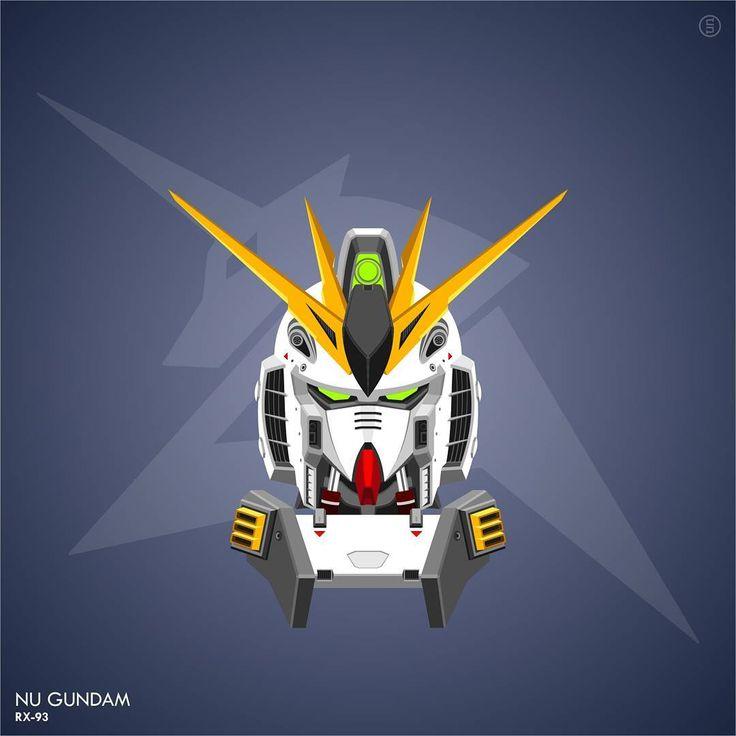 #gundam #vector #mobilesuit Nu Gundam