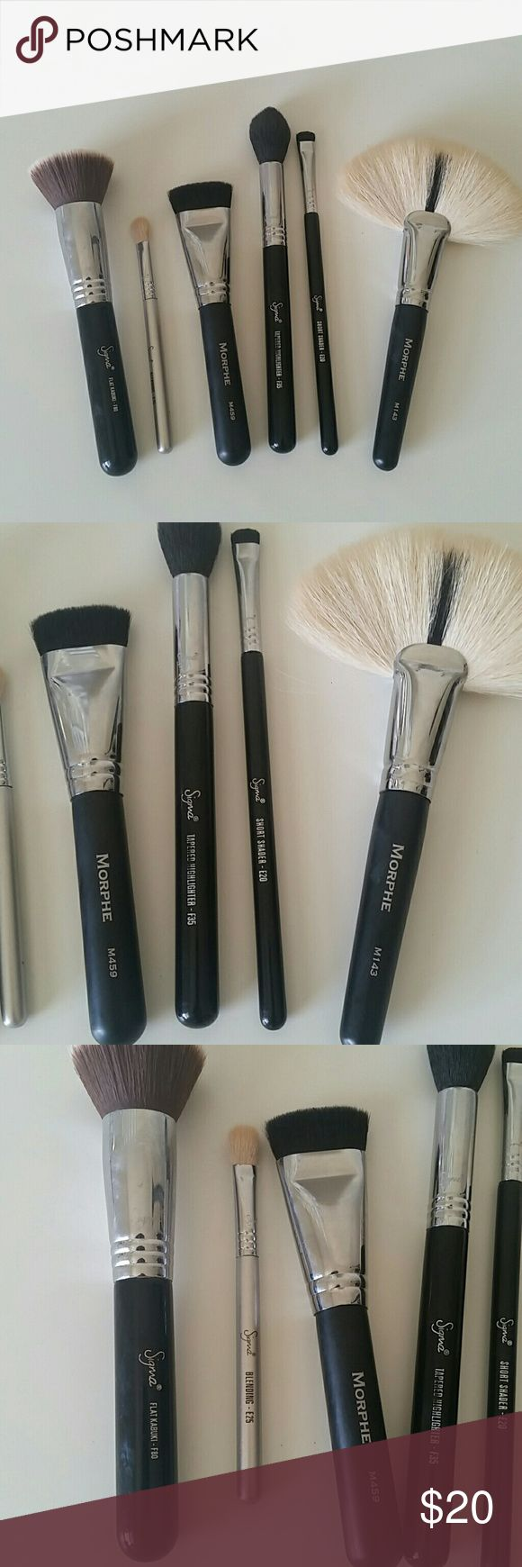 Morphe and Sigma Brushes Gently used. I never reach for these anymore. Price is firm. No offers or trades. sigma  Makeup Brushes & Tools