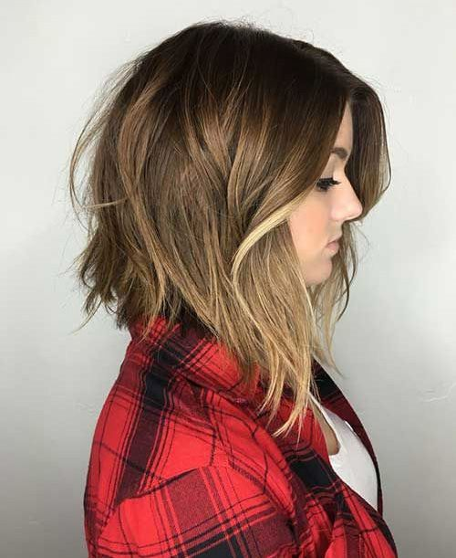 Asymmetric Medium Bob Women Hairstyles 2016
