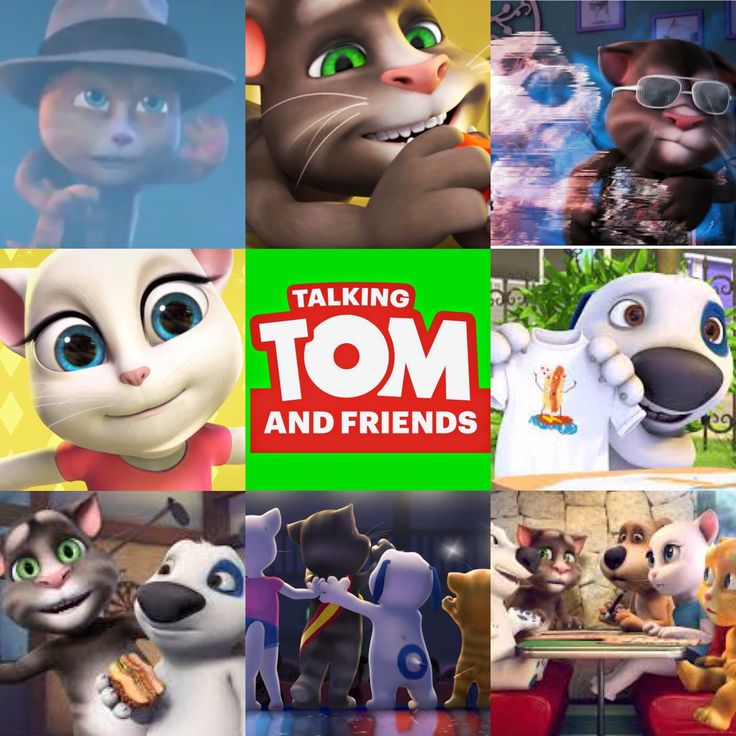 A Talking Tom & friends collage I made