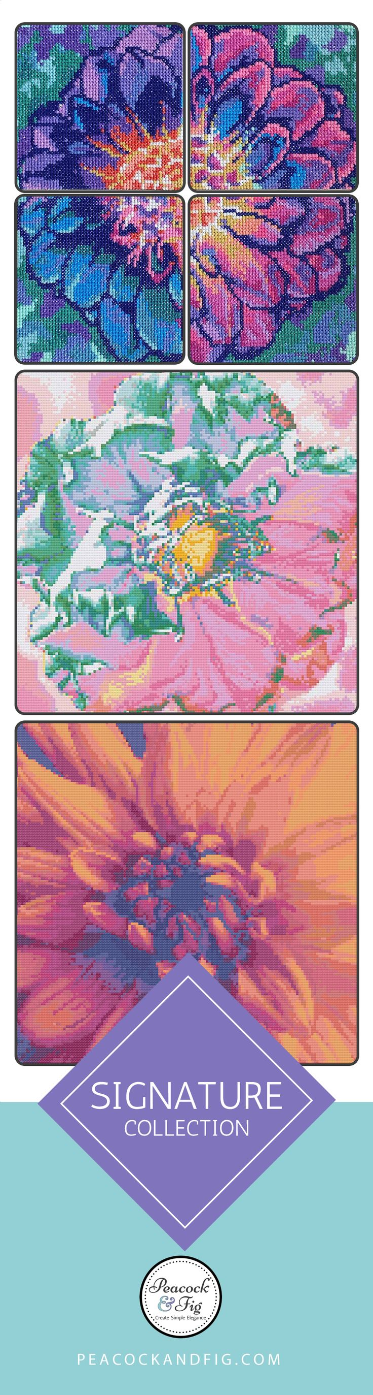 The perfect go to for floral cross stitch patterns.