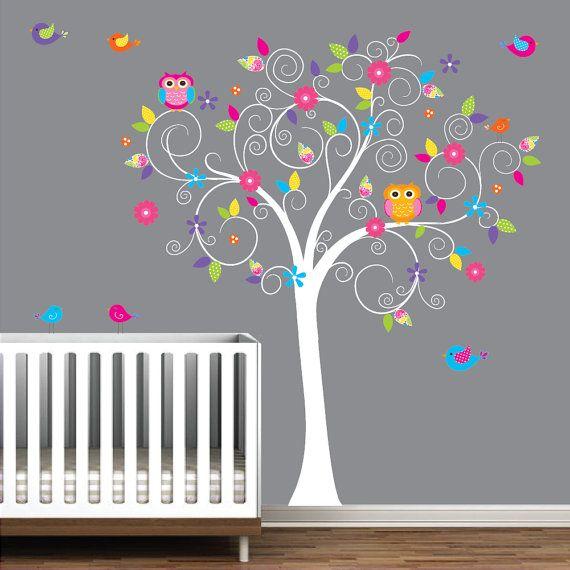 Bébé pépinière arbre mur autocollant mural autocollant-arbre Stickers muraux autocollant-arbre