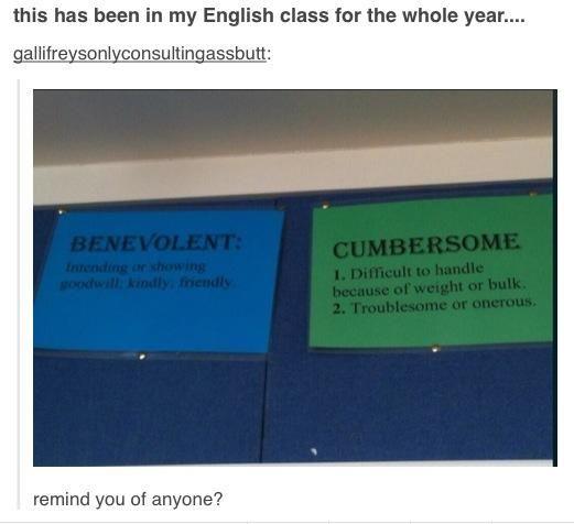 As I've said before, if I see a B and a C, my brain automatically fills in Benedict Cumberbatch.