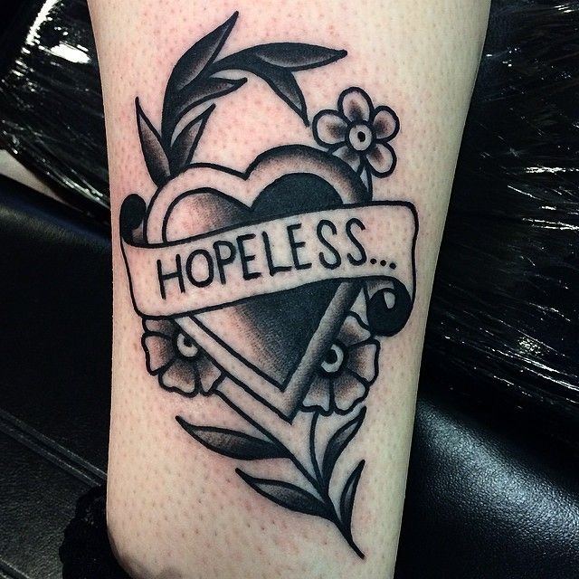 Hopeless never look so good #blackwork