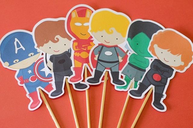 Vingadores - Pedro  http://blog.tuty.com.br/    Papelaria de festa