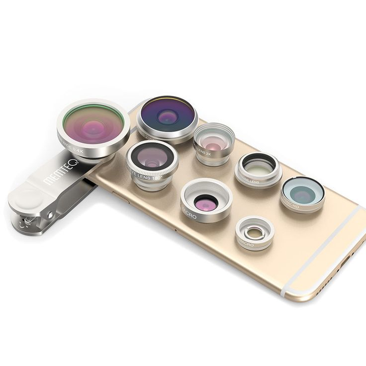 8in1 Clip-On Super Fisheye+Wide Angle+Macro Camera Lens for iPhone 6S 6S Plus #MEMTEQ