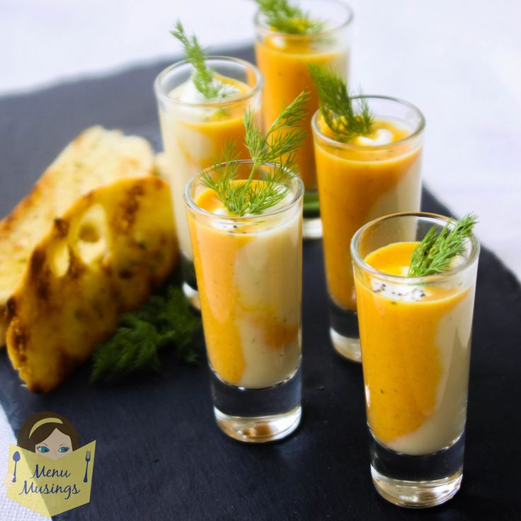 Step-by-step photo recipe tutorial to making a duo of roasted carrot and parsnip soup shooters, Indian, curried carrot soup, gingered parsnip soup, how to make carrot soup, how to make parsnip soup, what are soup shooters, appetizer soups, supper club recipes,