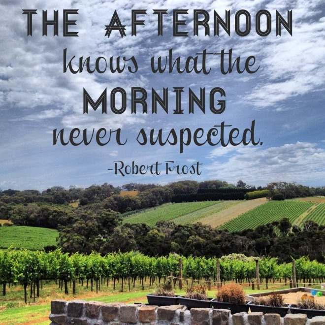 Or it could be said that the morning brings what the night never suspected