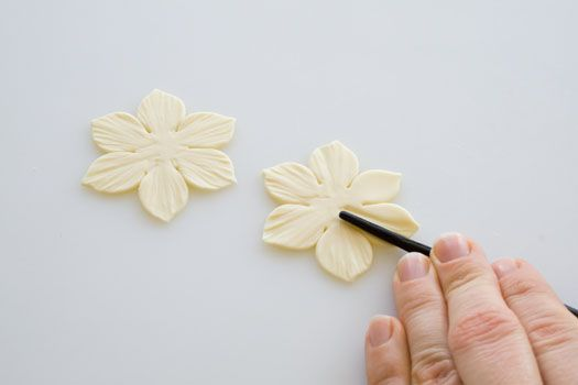 How to make a gum paste daffodil 4