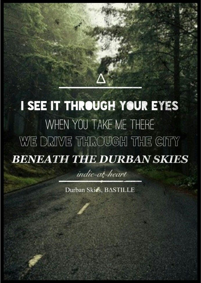 BASTILLE~~ lead singer wrote song to dedicate to his parents for their marriage  Durbin Skies lyrics