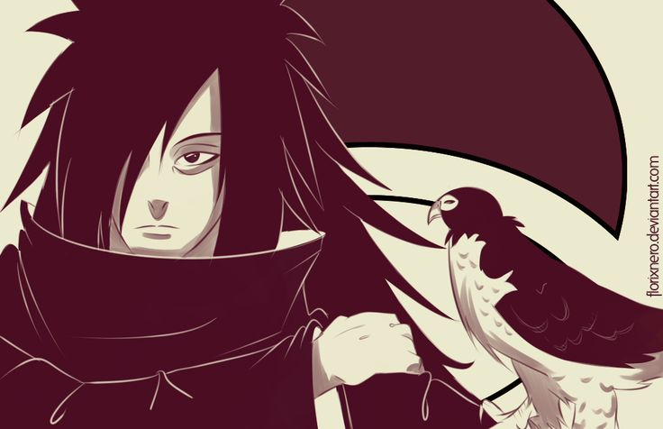 Madara Uchiha as a falconer.