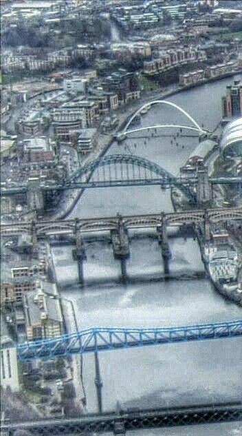 Bridges over the River Tyne, between Newcastle upon Tyne and Gateshead, Tyne & Wear, England.
