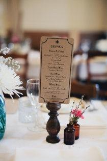Drinks menus made by Flights of Fancy by Kristy