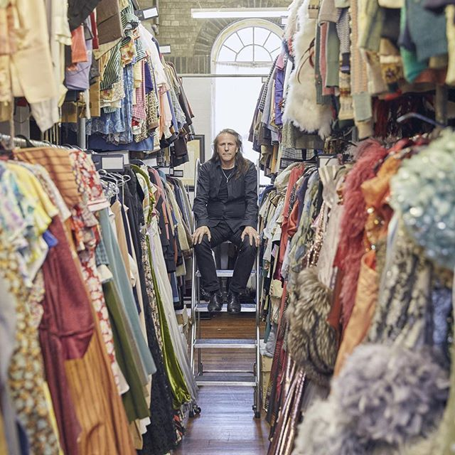 """Adrian Gwillym has worked in Southwark since 1973, creating costumes for theatre, TV and film. For #MyTateModern he remembers the transformation of the building in 2000: """"I remember just before the gallery opened, I was sitting outside at a bar down by Blackfriars Bridge, and I saw a large box being delivered by helicopter. It was amazing because we all heard this helicopter and watched as it lowered this great big square thing onto the top of the chimney of Tate Modern. We saw it landing…"""