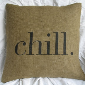 Chill Burlap Pillow