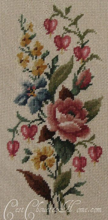 found on https://www.facebook.com/pages/Cest-Chouette-the-Vintage-Needlepoint-Pillow-Boutique/185372220541
