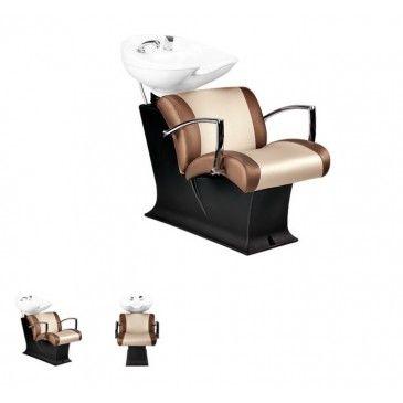 """Den #Friseurwaschplatz """"LADY Y EVE MODERN"""" gibt es in 2 Ausführungen. Die verschiedenen Farben des Bezugs sind in vielen Ausführungen verfügbar, sodass Sie Ihrem Friseursalon einen individuellen Look vermitteln zu können. Neigbares Waschbecken • gepolsterter Kunstlederbezug der Sitzfläche und Rückenlehne • Korpus aus schwarzem Kunststoff • Armlehne aus Edelstahl"""