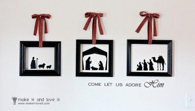 Nativity projects: Ideas, Vinyls, Empty Frames, Silhouette, Christmas Wall, Christmas Native, Native Scene, Christmas Decor, Nativity Scenes