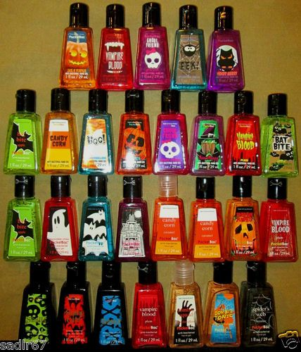 Bath Body Works Halloween PocketBac Anti Bacterial Hand Gel Sanitizer ,,,Amazing,,I Want them All.....
