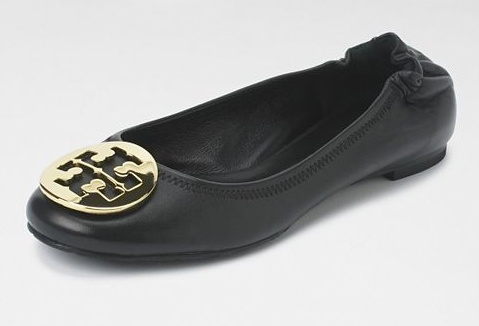 Tory Burch Reva  – Black with Gold Medallion