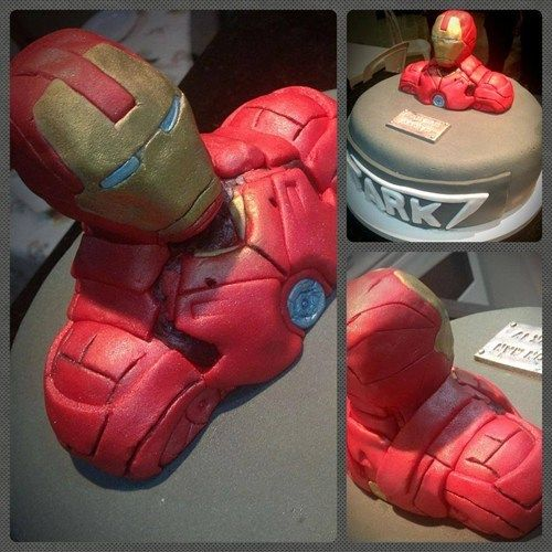 Iron Man Cake.  My son would like this!!:)  some awesome sculpting art right there.