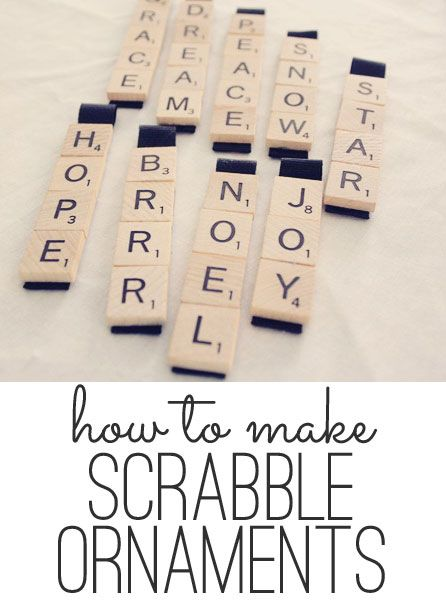 How to make scrabble ornaments | Shabby Creek Cottage Great idea for the kids to make - think we have an old scrabble game around