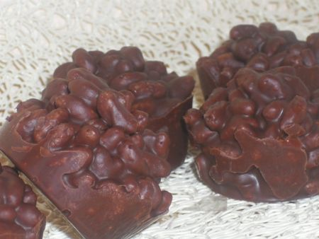 Recette bouchées chocolat au riz soufflé, cuisinez bouchées chocolat au riz soufflé