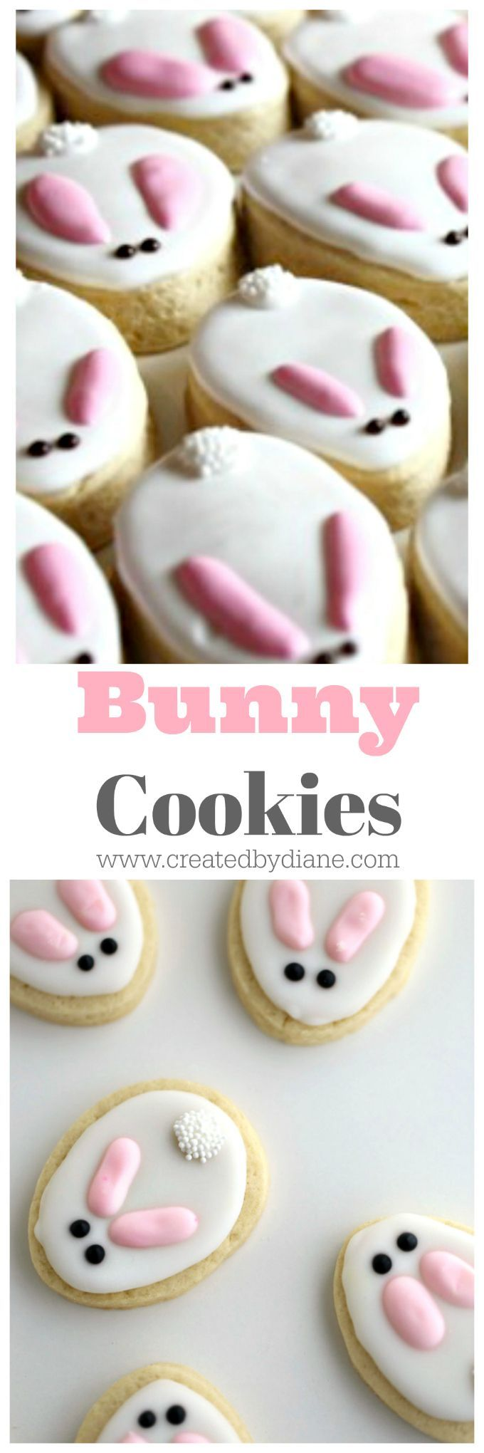 cookies decorated as bunnies easter www.createdbydiane.com