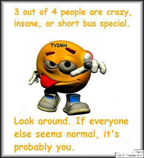 People Are Funny Quotes: Out Of 4 People Are Crazy Insane