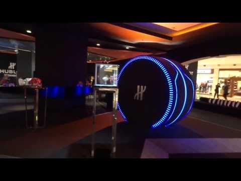 The incredible 3D Hublot Watch Capsule at Istinye Park, Istanbul for the boutique grand opening.