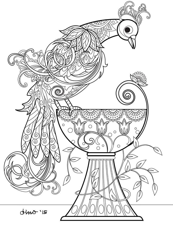 635 best Random Coloring pages images on Pinterest Coloring books - fresh detailed peacock coloring pages