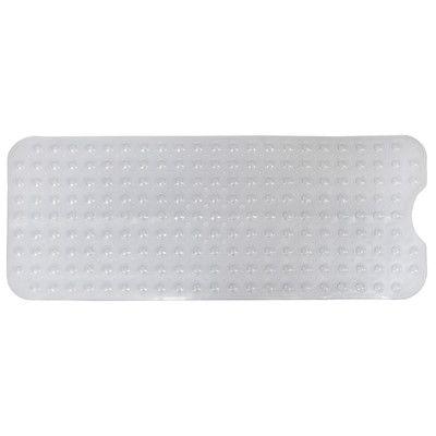 AttractionDesignHome Non-Slip Shower Mat Color: White