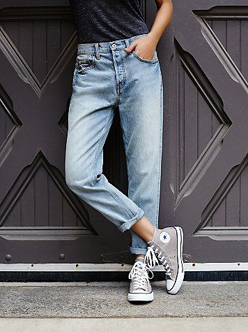 Casual weekend inspiration // Charlie Hi Top Converse | Classic canvas high top Chuck Taylors.  *By Converse