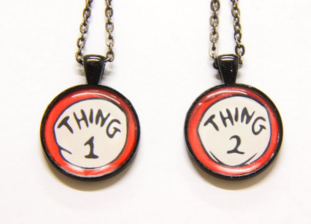 Dr. Seuss Necklaces | 38 Friendship Necklaces That Will Make You Glad You Have A BFF