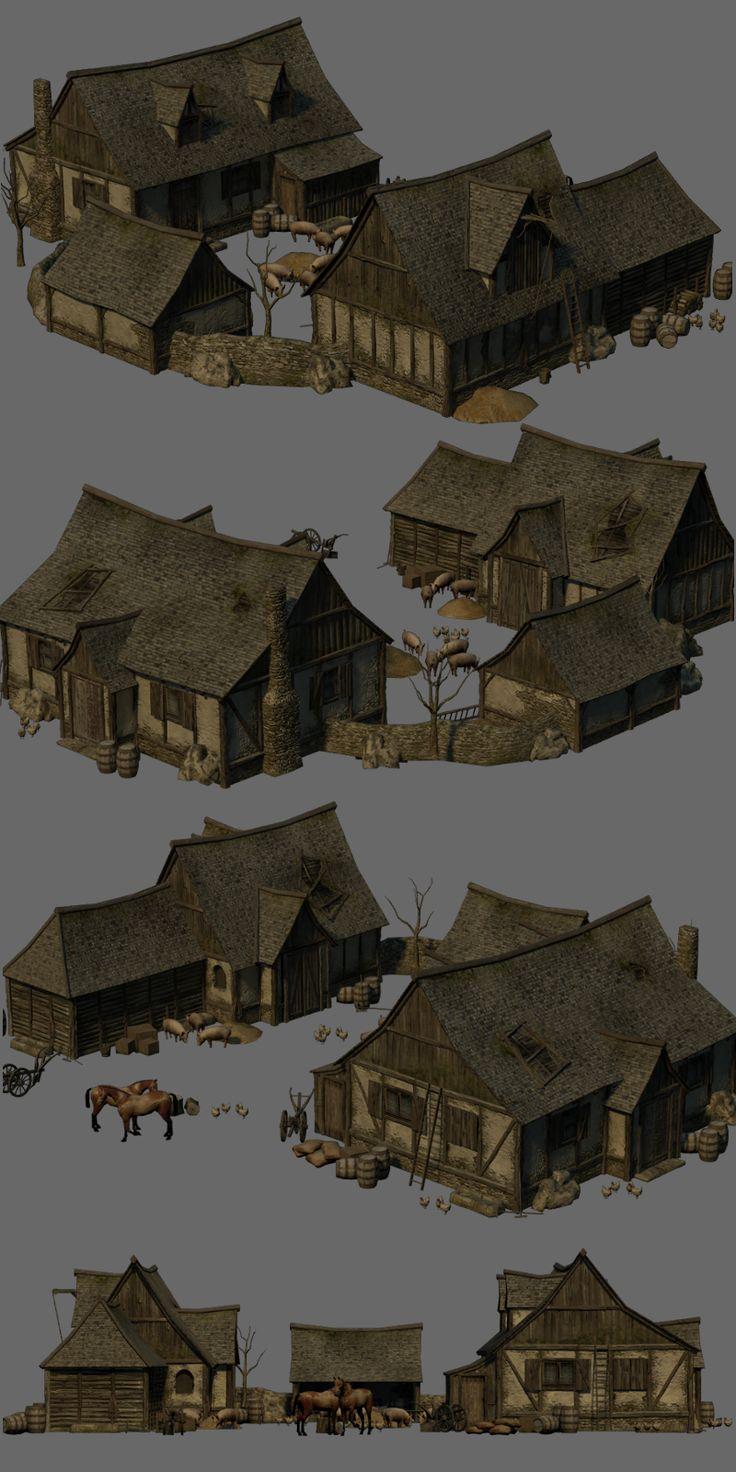Medieval Farm - Extended License 3D Models Gaming Dante78